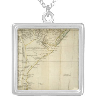 South America Southern Section Square Pendant Necklace