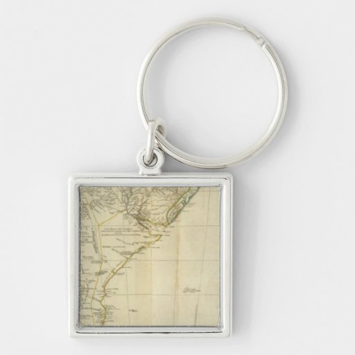 South America Southern Section Silver-Colored Square Keychain