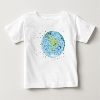 South-America, view of the world. Colourfull icons T Shirt