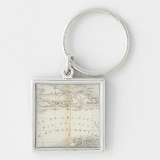 South America, West Indies Keychain