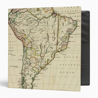 South America with boundaries outlined 3 Ring Binder