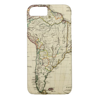 South America with boundaries outlined iPhone 8/7 Case