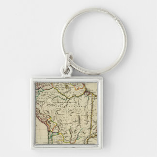 South America with boundaries outlined Keychain