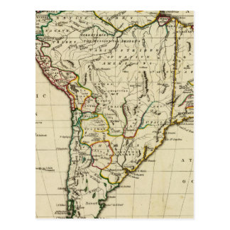 South America with boundaries outlined Postcard