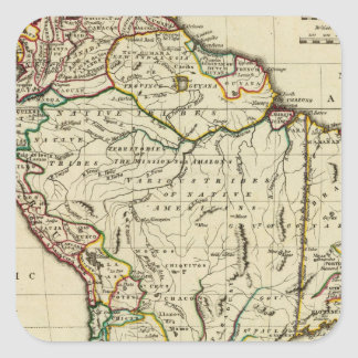 South America with boundaries outlined Square Sticker