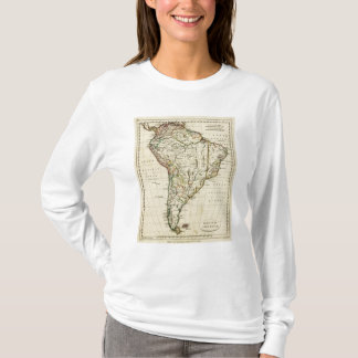 South America with boundaries outlined T-Shirt