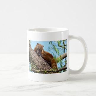 South American Coati in tree Coffee Mug