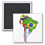 South American flags of South America flag Map Magnet