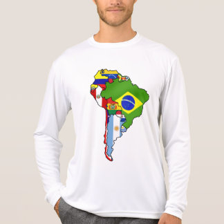 South American flags of South America Map T Shirts