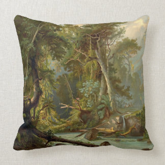 South American Forest 1873 Throw Pillow