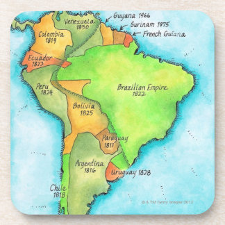 South American Independence Drink Coaster