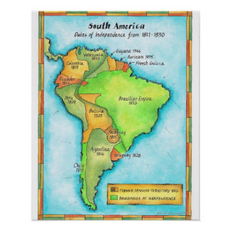 South American Independence Poster