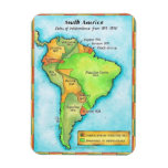 South American Independence Rectangular Photo Magnet
