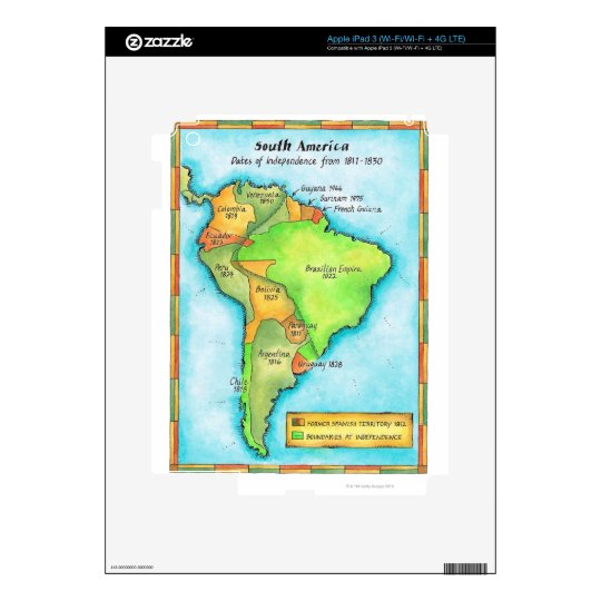 South American Independence Skin For iPad 3