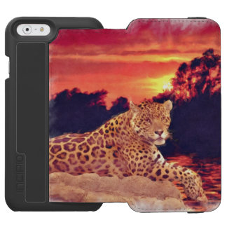 South American Jaguar Resting at Sunset iPhone 6/6s Wallet Case