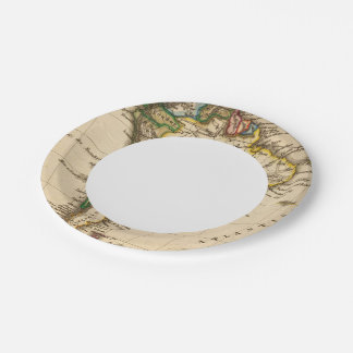 South American Map 7 Inch Paper Plate