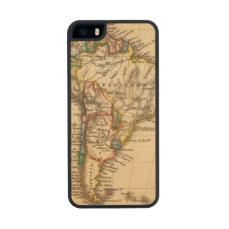 South American Map Carved® Maple iPhone 5 Case