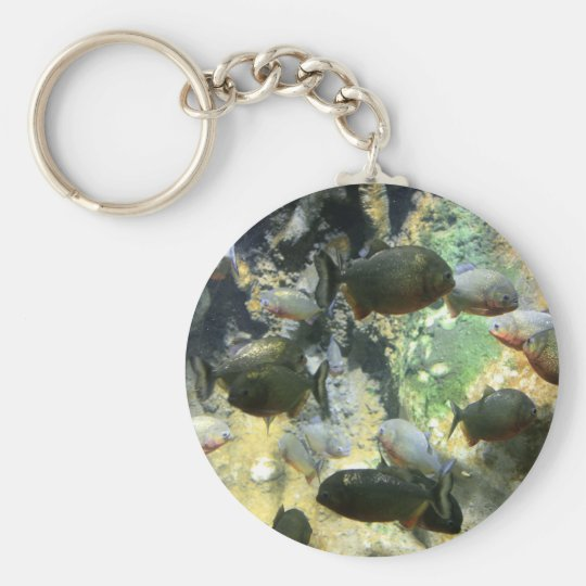 South American Piranha Fish Keychain