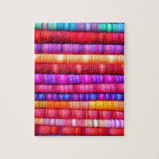 South American Stripe Fabrics Puzzle