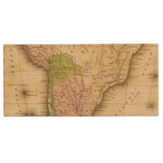 South AmericaOlney Map Wood USB 2.0 Flash Drive