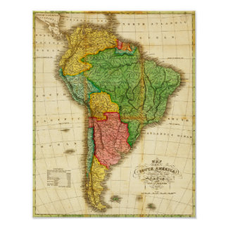 South AmericaPanoramic MapSouth America 2 Print