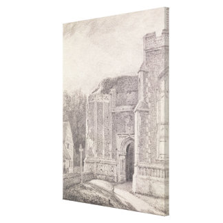 South Archway of the ruined tower of East Bergholt Canvas Print