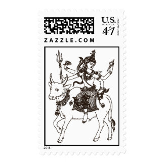 SOUTH ASIAN GOD ANGEL RIDING COW POSTAGE