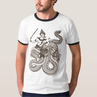 SOUTH ASIAN GOD ANGEL RIDING DRAGON T-Shirt