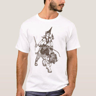 SOUTH ASIAN HINDU - BUDDHIST GOD RIDING TIGER T-Shirt