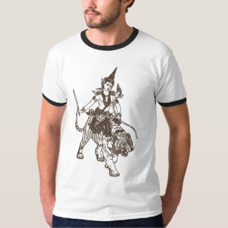 SOUTH ASIAN HINDU GOD ANGEL RIDING TIGER T-Shirt