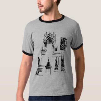 SOUTH ASIAN TEMPLE DRAWINGS T-Shirt