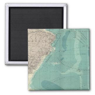 South Atlantic Ocean 2 Inch Square Magnet