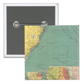South Atlantic Ocean 2 Inch Square Button