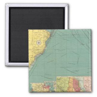 South Atlantic Ocean Fridge Magnet