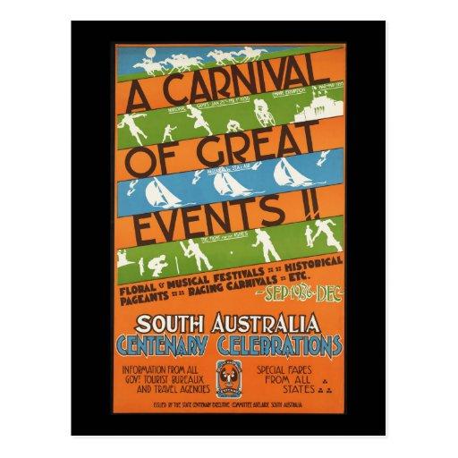 South Australia centenary celebrations Postcard