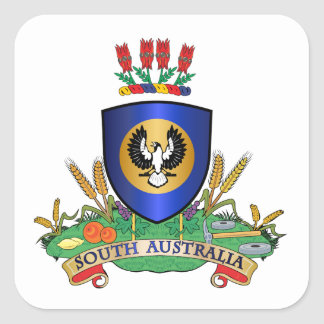 South Australia coat of arms Square Stickers