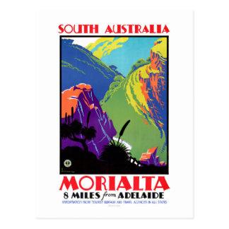 South Australia Morialta Vintage Travel Poster Postcard