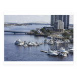 south bank Jacksonville marina Postcard
