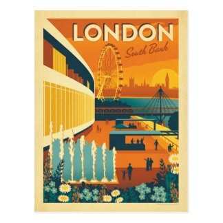 South Bank, London Postcard