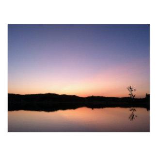 South Bar Lake After Sunset Postcard