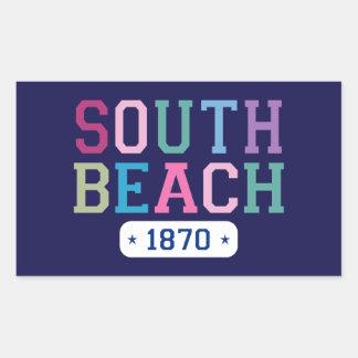 South Beach 1870 Rectangular Sticker