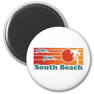 South Beach 2 Inch Round Magnet