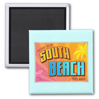 SOUTH BEACH 2 INCH SQUARE MAGNET