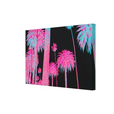 Beach Themed South Beach Art Deco Miami Florida Neon Canvas Art