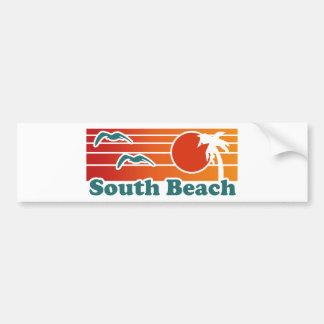 South Beach Car Bumper Sticker