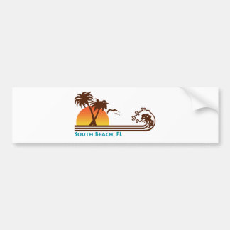 South Beach Bumper Sticker