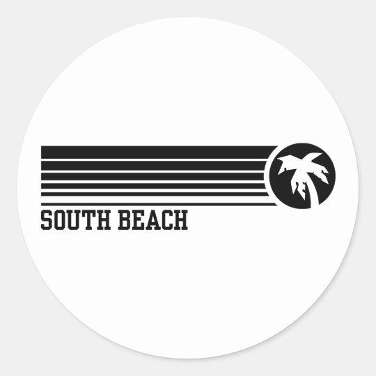 South Beach Classic Round Sticker