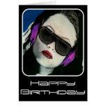 """South Beach DJ"" on a Birthday Card"