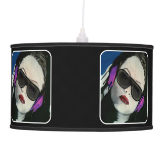 'South Beach DJ' on a hanging-pendent lamp