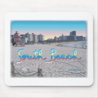 South Beach, FL City View Mouse Pad